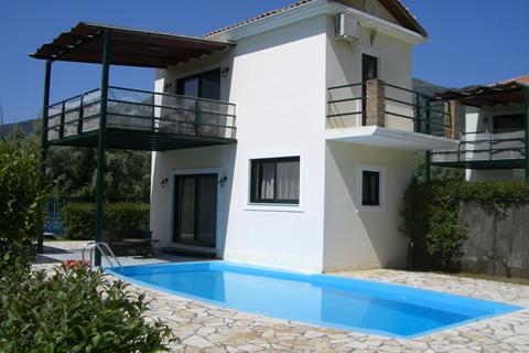 Goedkope zonvakantie Lefkas 🏝️Villa's Ionian Rose met privézwembad