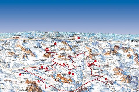 Heerlijke skivakantie Dolomiti Superski ⛷️Skisafari Dolomiti Huttentocht