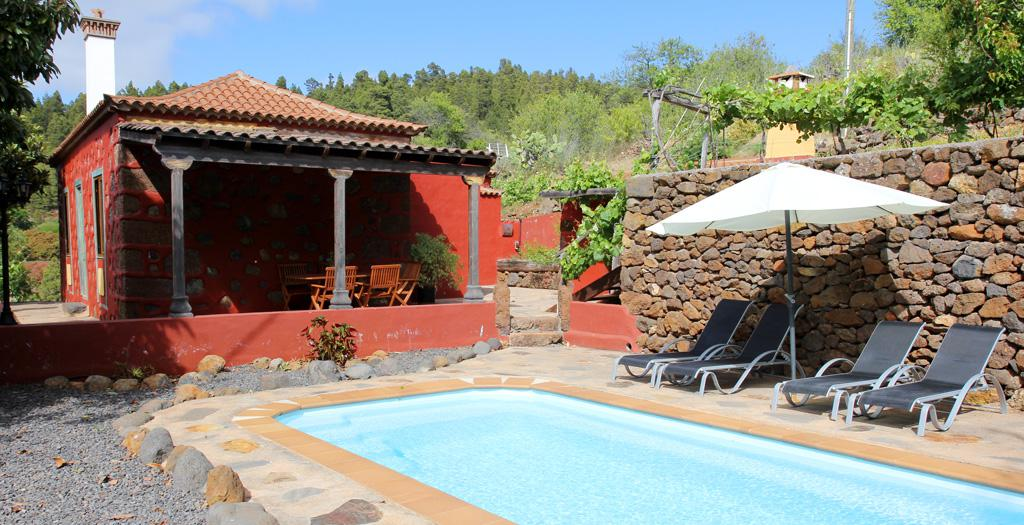 Bijzondere accommodaties Casita La Graja in Puntagorda (La Palma, Spanje)
