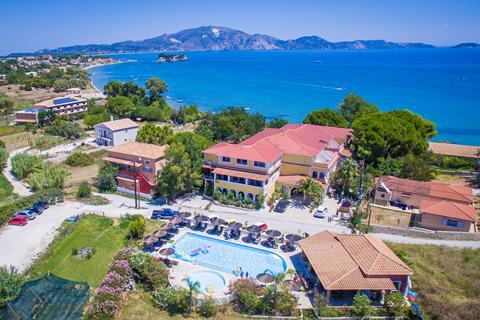 Goedkope zonvakantie Zakynthos - Hotel Porto Koukla Beach - logies en ontbijt