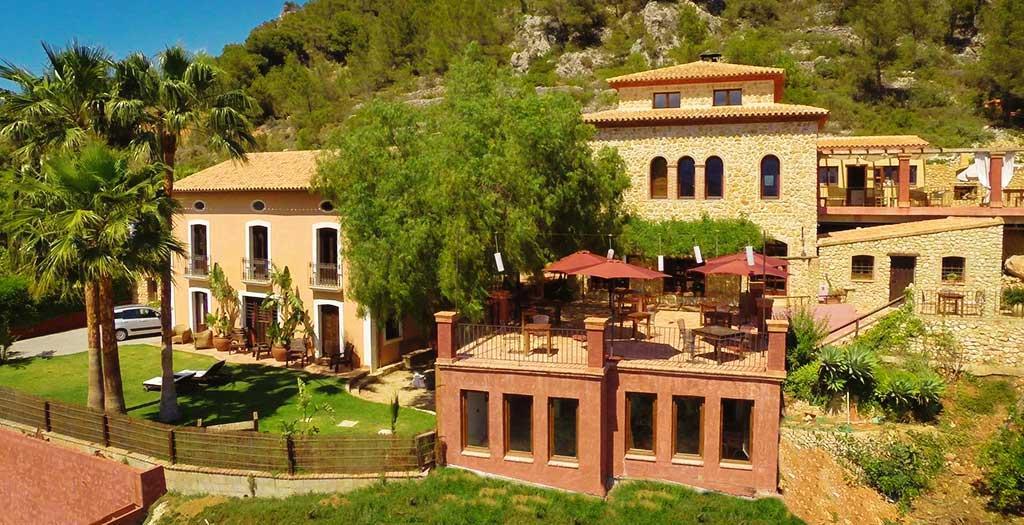 Bijzondere accommodaties Finca el Tossal in Bolulla (Alicante, Spanje)