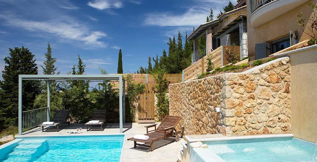 Bijzondere accommodaties Acquaterra Villas in Tsoukalades (Lefkas, Griekenland)