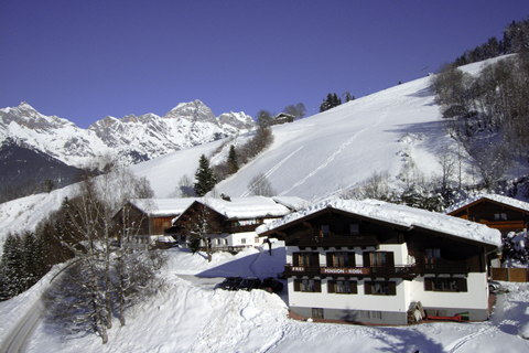 Goedkope wintersport Ski Amadé ⛷️Pension Koidl