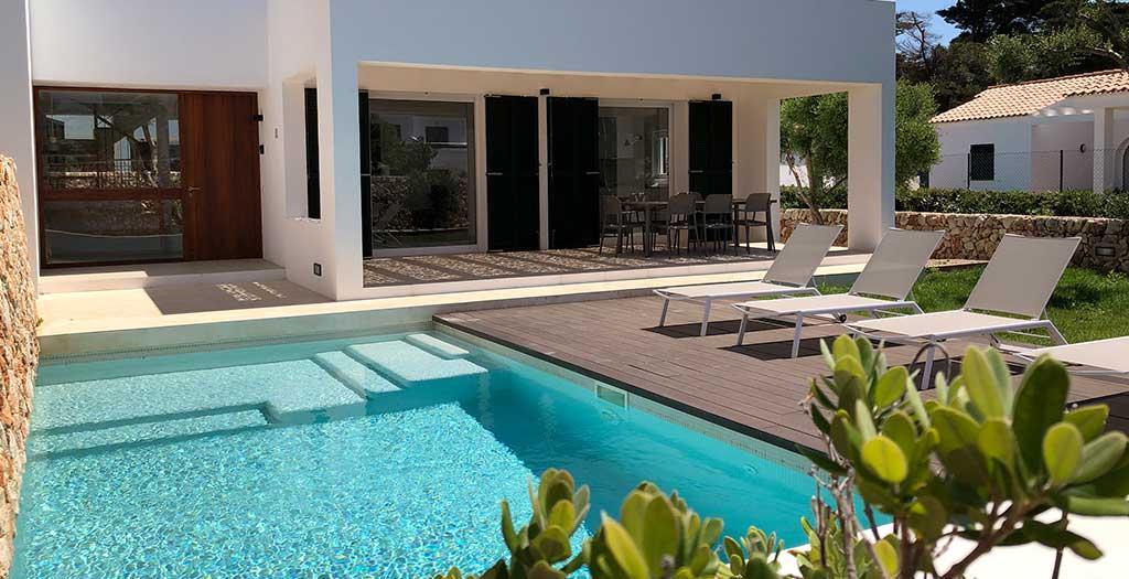 Bijzondere accommodaties Villa's Nure Mar y Mar in Cala'n Blanes (Menorca, Spanje)