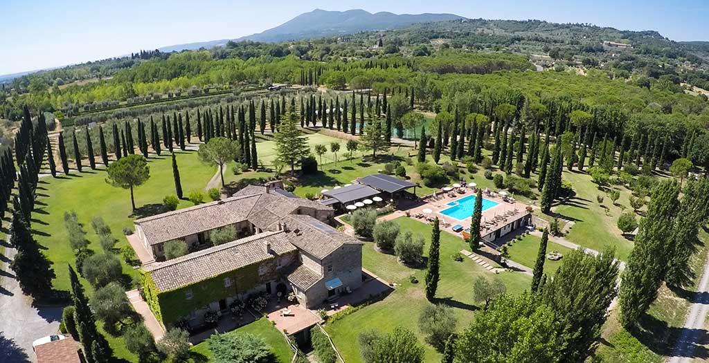 Bijzondere accommodaties Agriturismo La Sovana Hotel in Sarteano (Toscane, Italië)