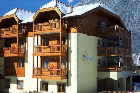 Goedkope skivakantie Val di Fiemme ⛷️Kristall Residence